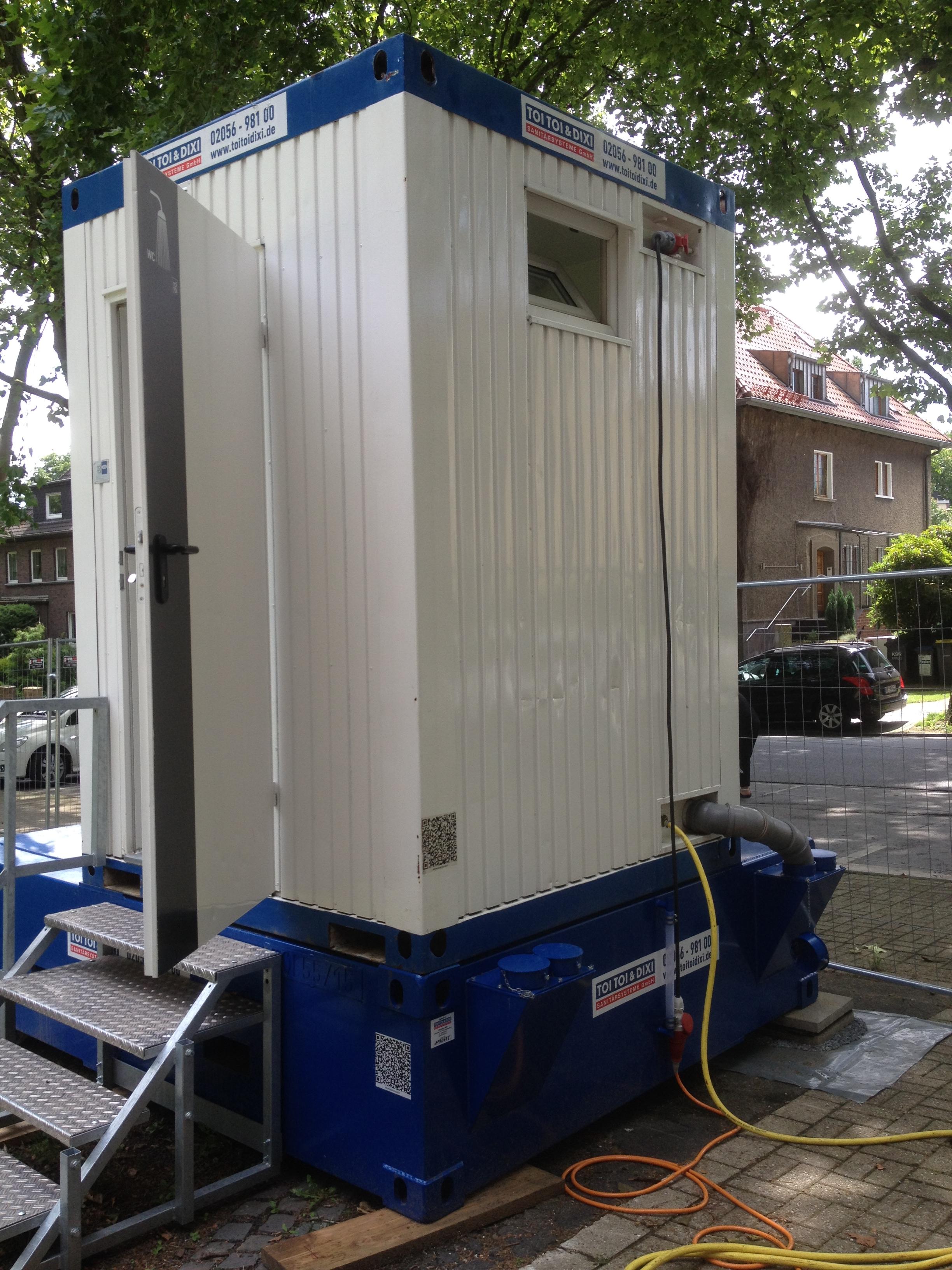 Baustellen Dusche mieten in Recklinghausen – z.B. bei Asbestsanierung